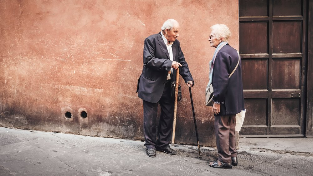 Elderly Adults Outdoors